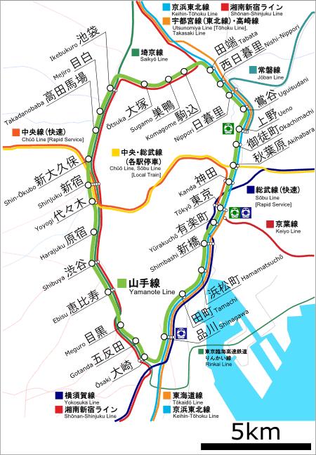 Tokyo JR Yamanote line